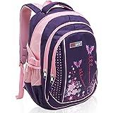 MGgear 18 Inch Girl Butterfly Flower Student School Bookbag / Children Backpack