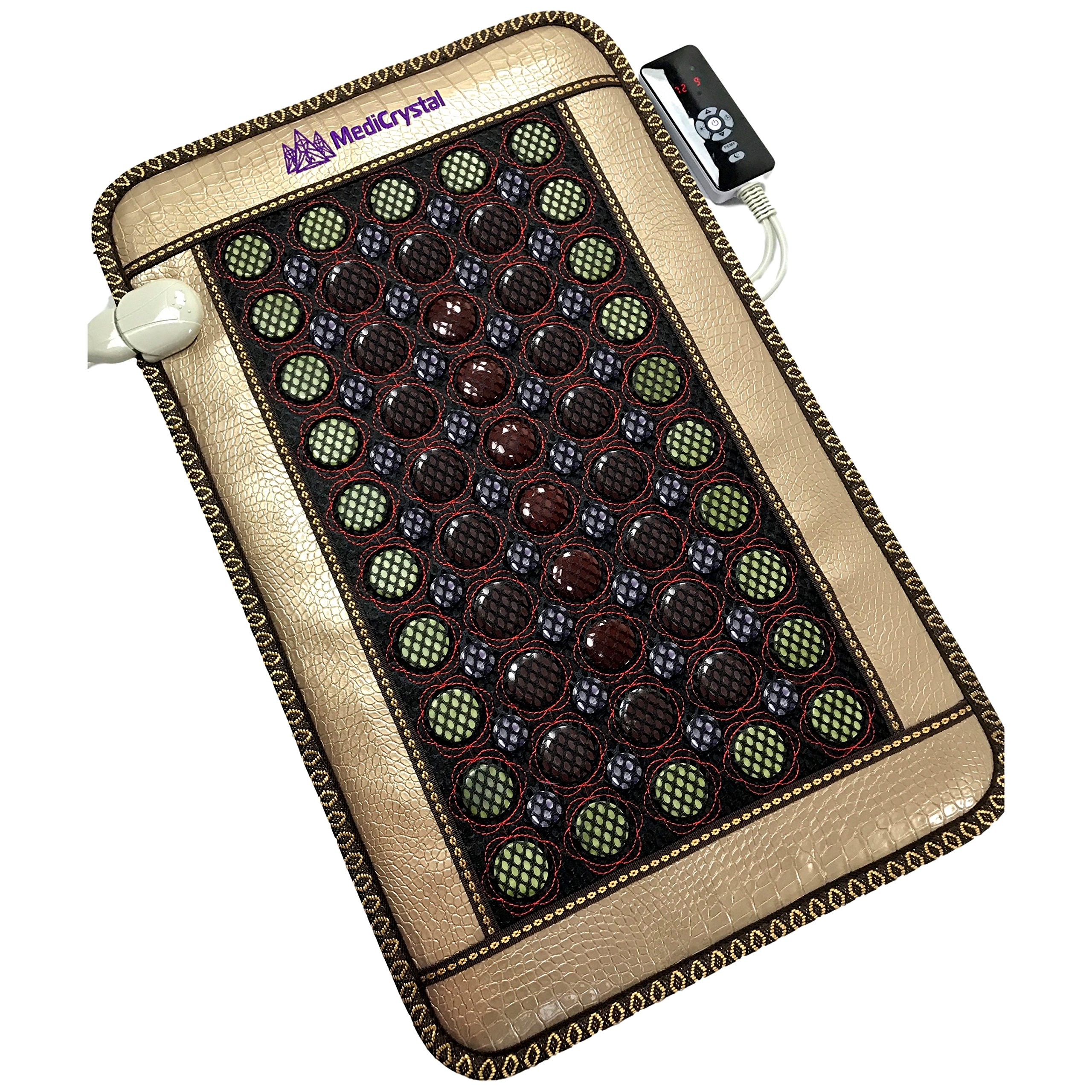 4 Gems FIR Bio Magnetic Mat - Natural Hot Stones - Amethyst Jade Tourmaline Agate - - Far InfraRed Heating Pad - 10Hz PEMF - Negative Ion - FDA Registered Manufacturer (Mini 32''L x 20''W) by MediCrystal (Image #10)