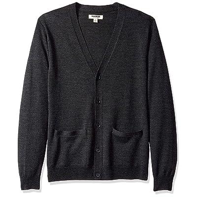 Brand - Goodthreads Men's Lightweight Merino Wool Cardigan Sweater: Clothing