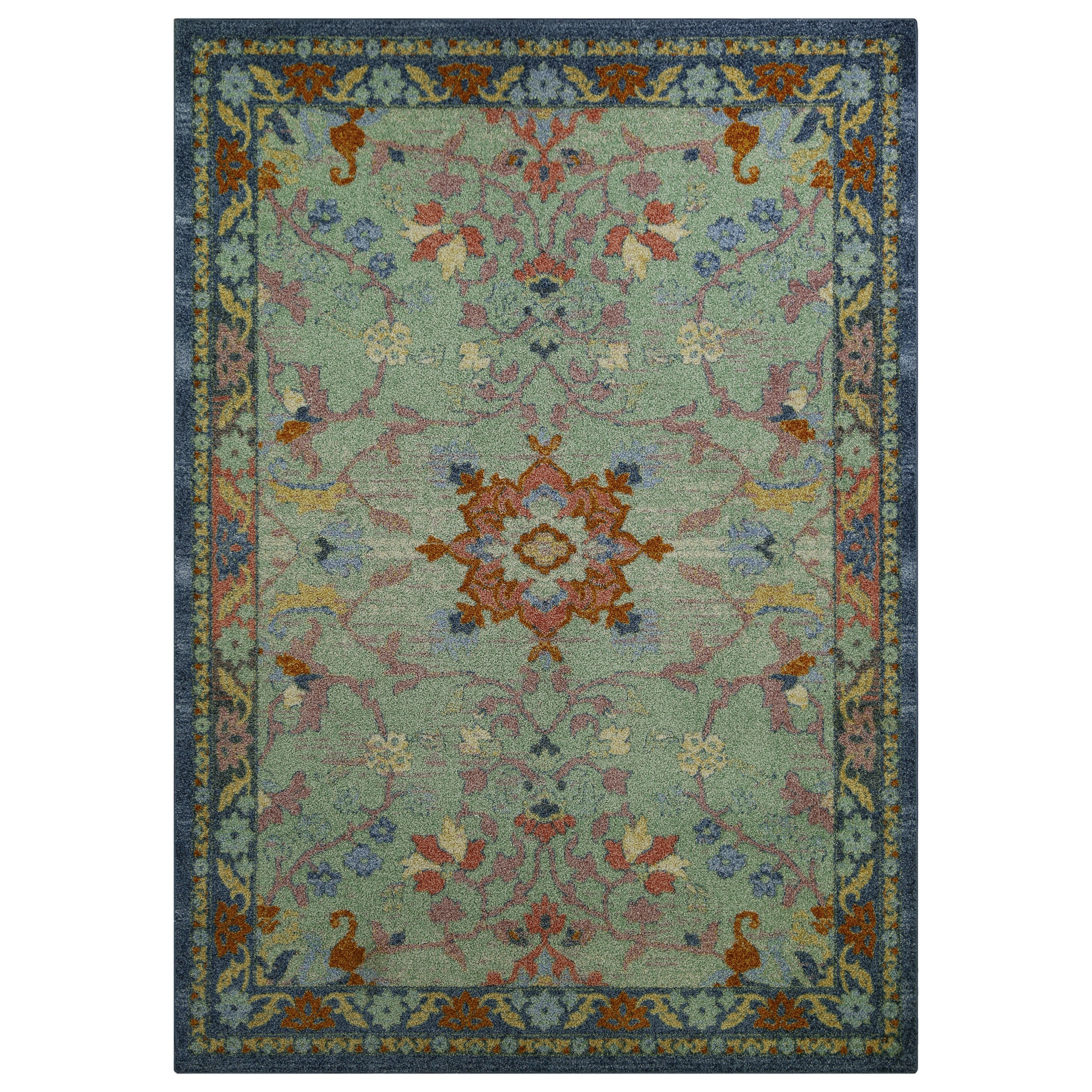 Area Rugs, Maples Rugs [Made in USA][Tilda Artwork Collection] 7' x 10' Non Slip Padded Large Rug for Living Room, Bedroom, and Dining Room
