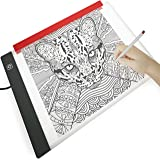 Illuminati Light Box Drawing Pad For Tracing With Free A4 Paper Holder Clamp ~ Super Bright Ultra Thin Dimmable Table With Hi-Mid-Low Brightness Control ~ Equipped With Filter To Prevent Eye Fatigue