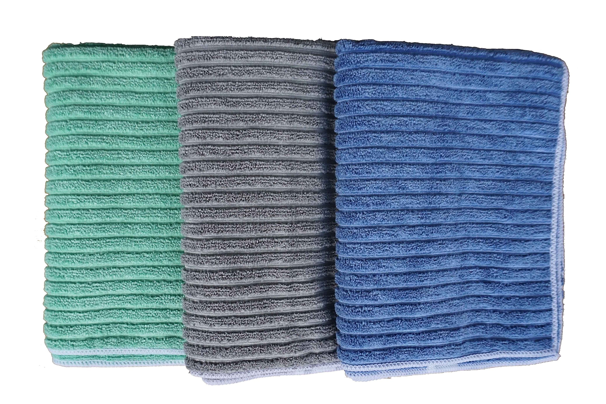 Gryeer Bamboo Microfiber Kitchen Towels - colors