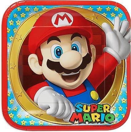 Amazon.com: Amscan Swank Super Mario Brothers fiesta de ...