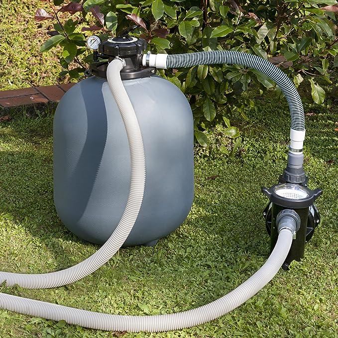 Gre FS300NP - Filtro de arena 4m3/h, con bomba de 0,24 CV sin prefiltro: Amazon.es: Jardín