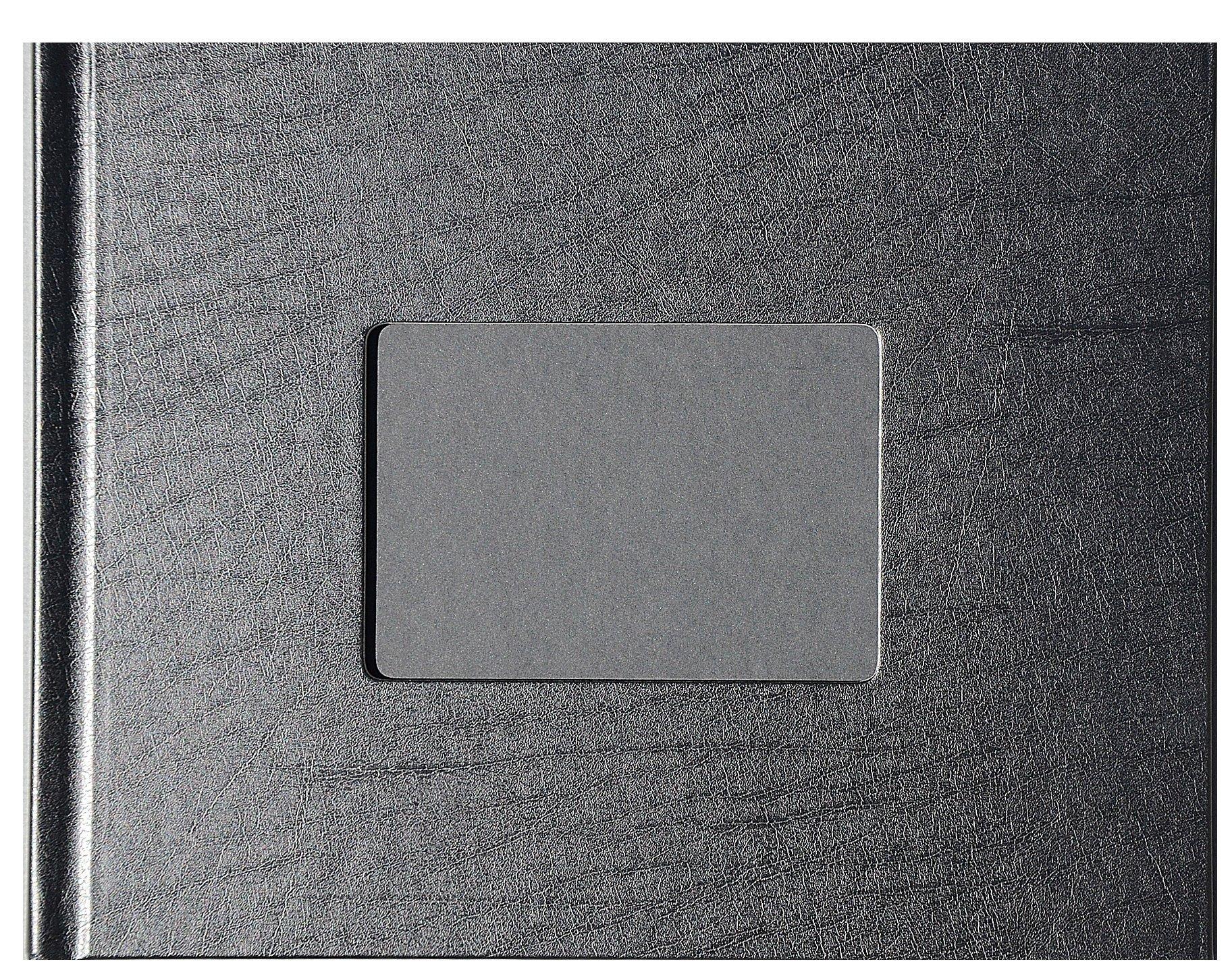 "Unibind 259FD8BA7DF 7mm Black Leatherette 8.5"" x 11"" Photobook - 10 Pack"
