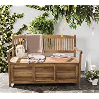 Safavieh Outdoor Living Brisbane Brown Storage Bench Deals