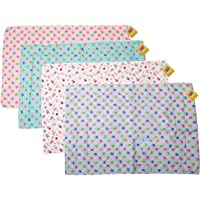 Fareto Nappy Changing Mat Water Proof Bed Protector with Foam Cushioned for New Born Baby 4 Sheets (Multicolour, 0-12 Months)