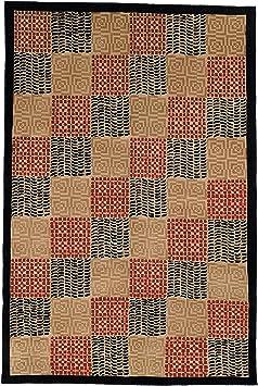 Amazon Com Safavieh Tibetan Collection Tb339a Hand Knotted Modern Premium Silk Wool Area Rug 5 X 7 6 Black Rust Furniture Decor