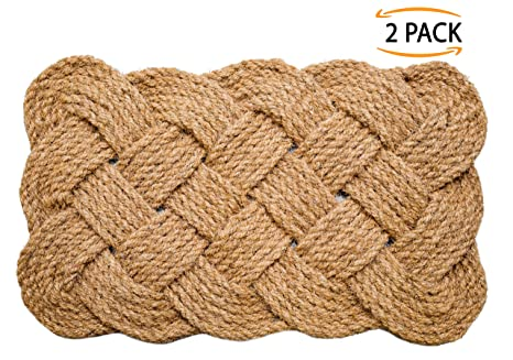Superb Iron Gate   Natural Jute Rope Woven Doormat 18x30   2 Pack   100% All