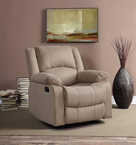 Relax A Lounger Upholster Logan Multi-Function Microfiber Recliner Chair