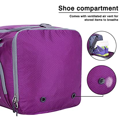 ... Venture Pal Packable Sports Gym Bag with Wet Pocket   Shoes Compartment  Travel Duffel Bag for ... 017ca742ad3ce