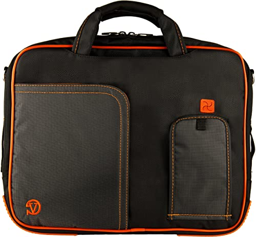 Orange Pindar Edition Durable Messenger Shoulder Bag Case for Asus K52DR, N50Vc, N50Vn, N55SF, A55VD, A53U, A54C, A55A, U53Jc, P53SJ, P53E, B53E, B53F, B53J, B53S 15.6 inch Laptop and Wristband
