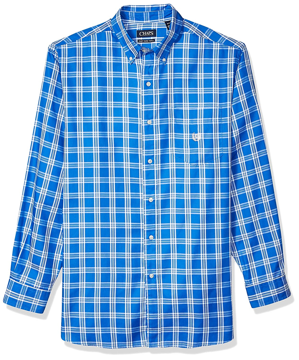 Chaps Men's Big and Tall Long Sleeve Easy Care Button Down Shirt