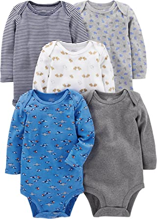 Simple Joys by Carters Baby Boys 4-Pack Soft Thermal Long Sleeve Bodysuits