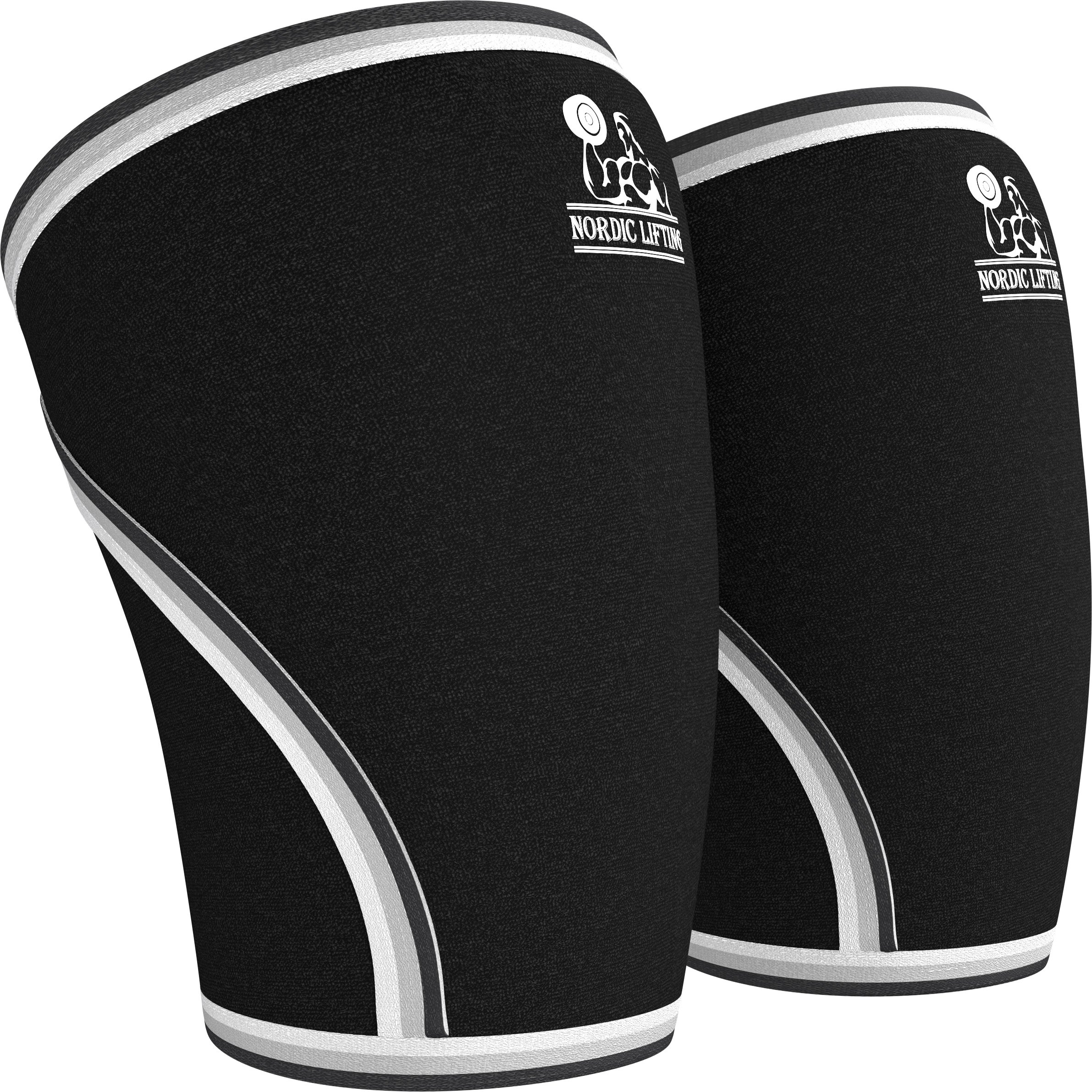 Nordic Lifting Knee Sleeves (1 Pair) Support & Compression for Weightlifting, Powerlifting & Cross Training - 7mm Neoprene Sleeve for The Best Squats - Both Women & Men (X-Small, Black) by Nordic Lifting