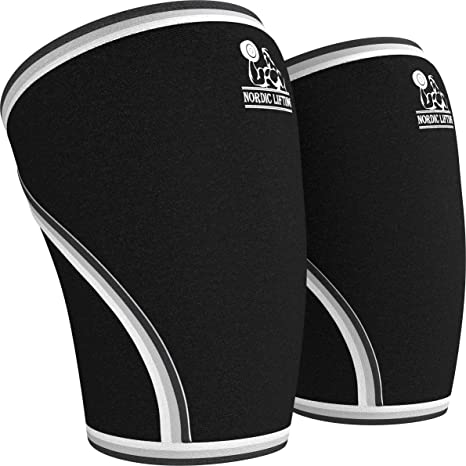 f758b36c7f Nordic Lifting Knee Sleeves (1 Pair) Support & Compression for  Weightlifting, Powerlifting & Cross Training - 7mm Neoprene Sleeve for The  Best Squats - Both ...
