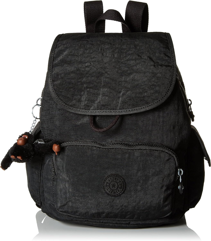 Kipling City Pack S, Mochila para Mujer, Negro, 27x33.5x19 cm