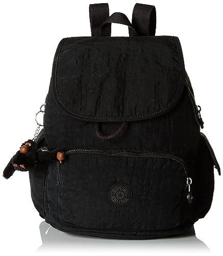 Kipling City Pack S, Sacs à dos femme, (True Black), 27x33.5x19 cm (B x H T)
