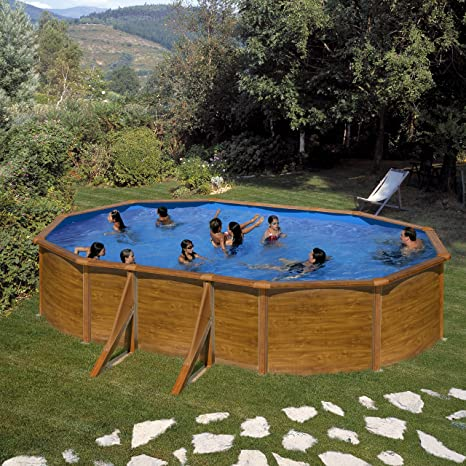 Pool Set Gala pagos by Gre – Acero Pared Aspecto de Madera de 500