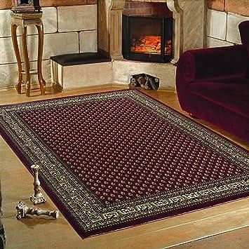 U0026quot;Klassiker Orient U0027Miru0027 Design Teppich Mit Bordüre Schwarz Rot Beige  Meliert Wohnzimmer