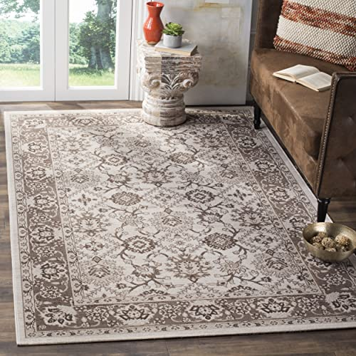 Safavieh Artisan Collection ATN328M Vintage Oriental Ivory and Brown Distressed Area Rug 3 x 5