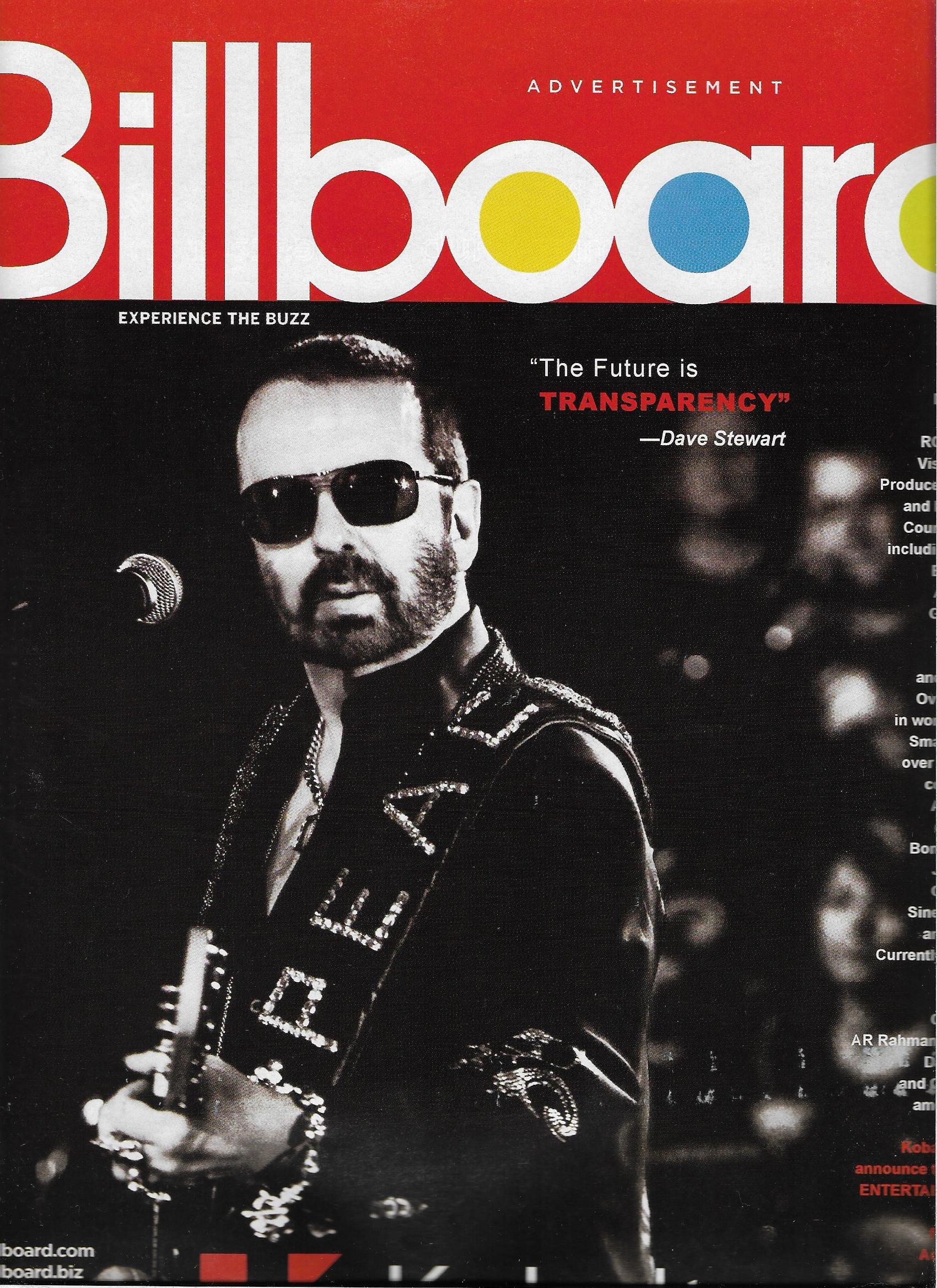 Billboard Magazine - June 20, 2009 - Dave Stewart l Daughtry
