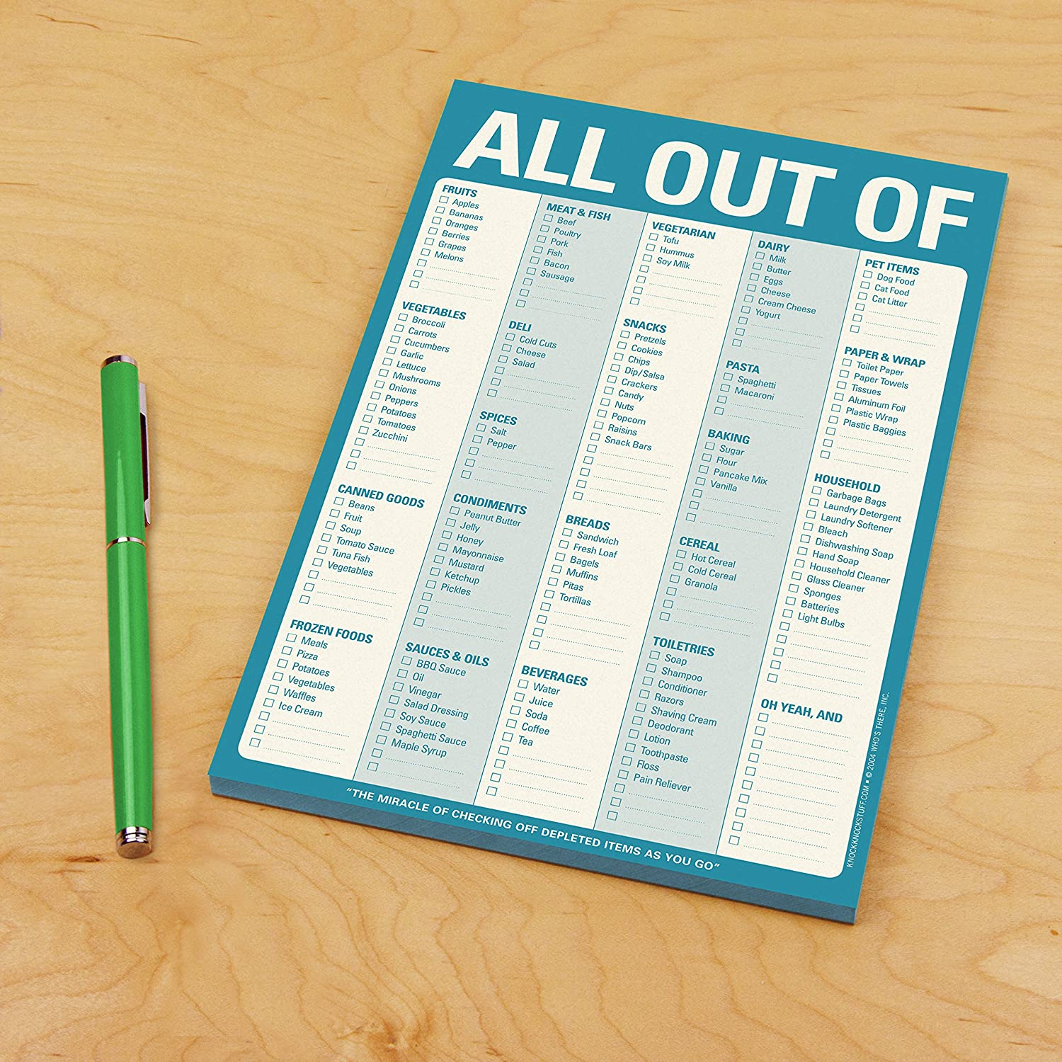 Amazon.com: Knock Knock All Out of Note Pad, Blue (12226): Knock ...