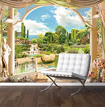 Fantasy Garden Wall Mural Photo Wallpaper Roman Style Large 1500mm X 1150mm