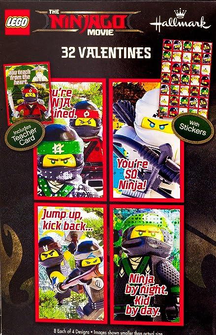 Amazon Com Lego Ninjago Movie Classroom Valentines Day Cards 32