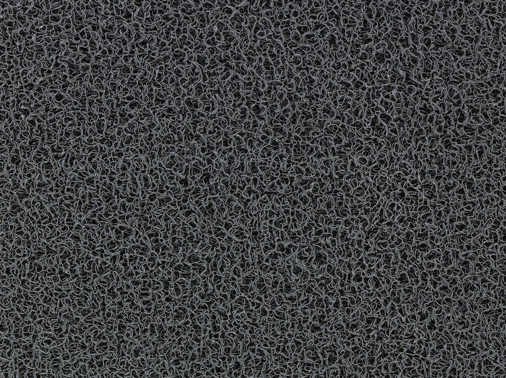 Andersen 437 Frontier Vinyl Indoor/Outdoor Scraper Floor Mat, 8' Length x 4' Width, 3/8'' Thick, Dark Grey