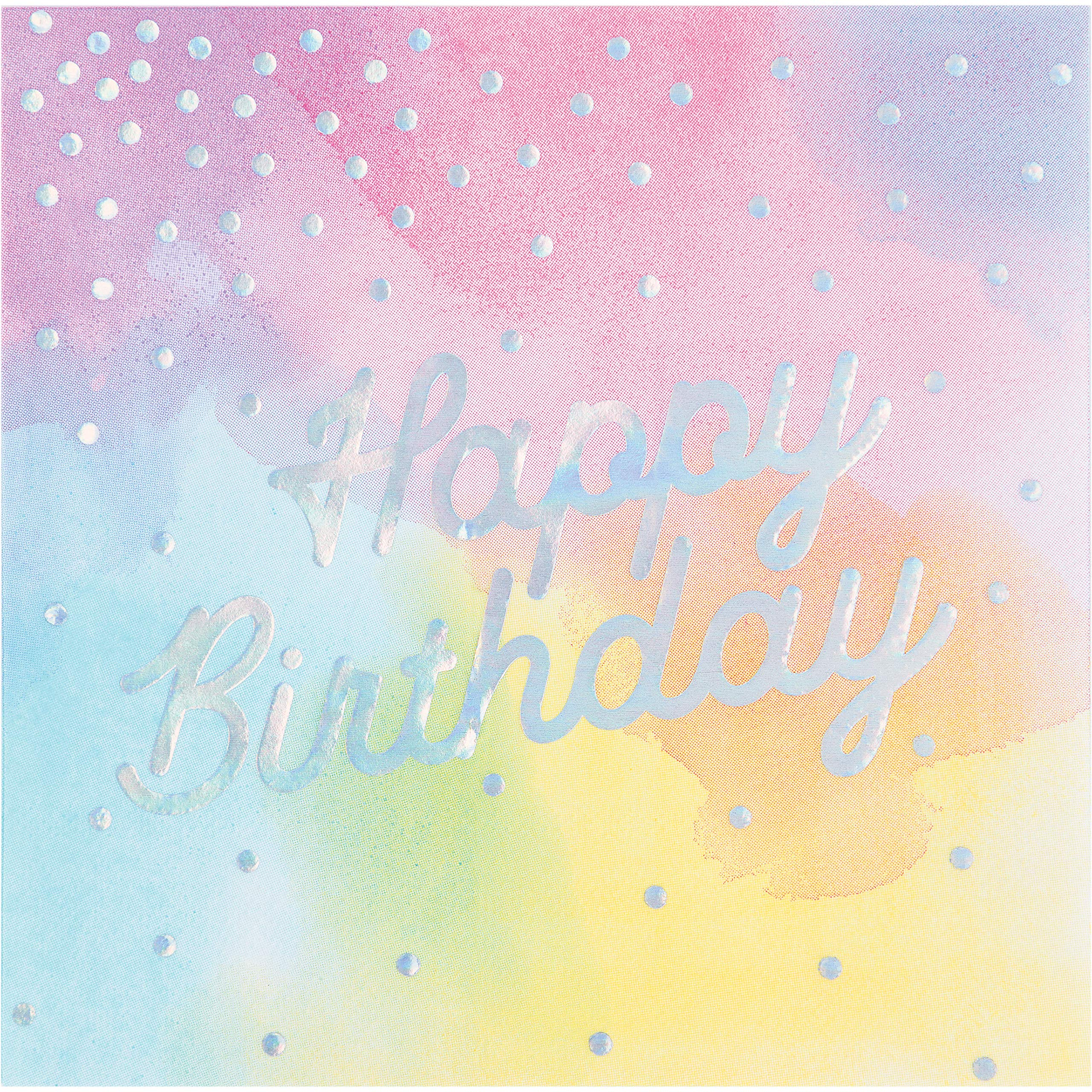 Iridescent Party Happy Birthday Napkins, 48 ct by Creative Converting