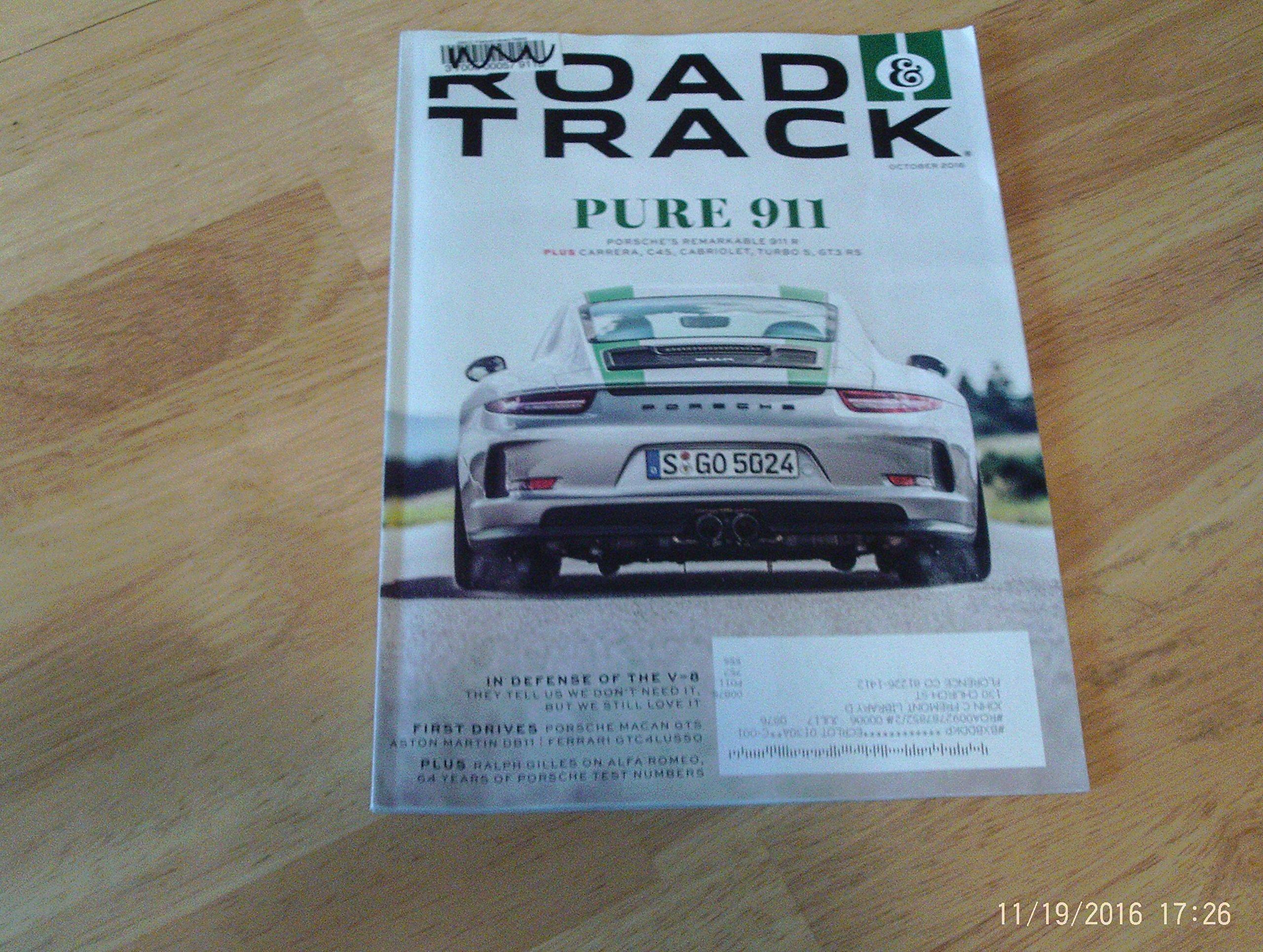 Download Road & Track Magazine October 2016  Porsche's Remarkable 911 R pdf