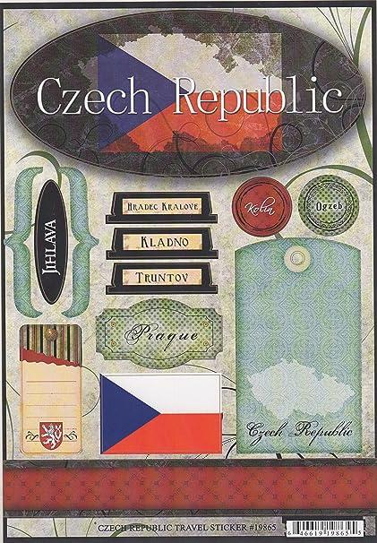 Amazon Czech Republic World Travel Cardstock Scrapbook Stickers