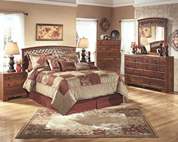 Ashley Furniture Signature Design   Timberline Panel Headboard   Queen/Full    Vintage Casual