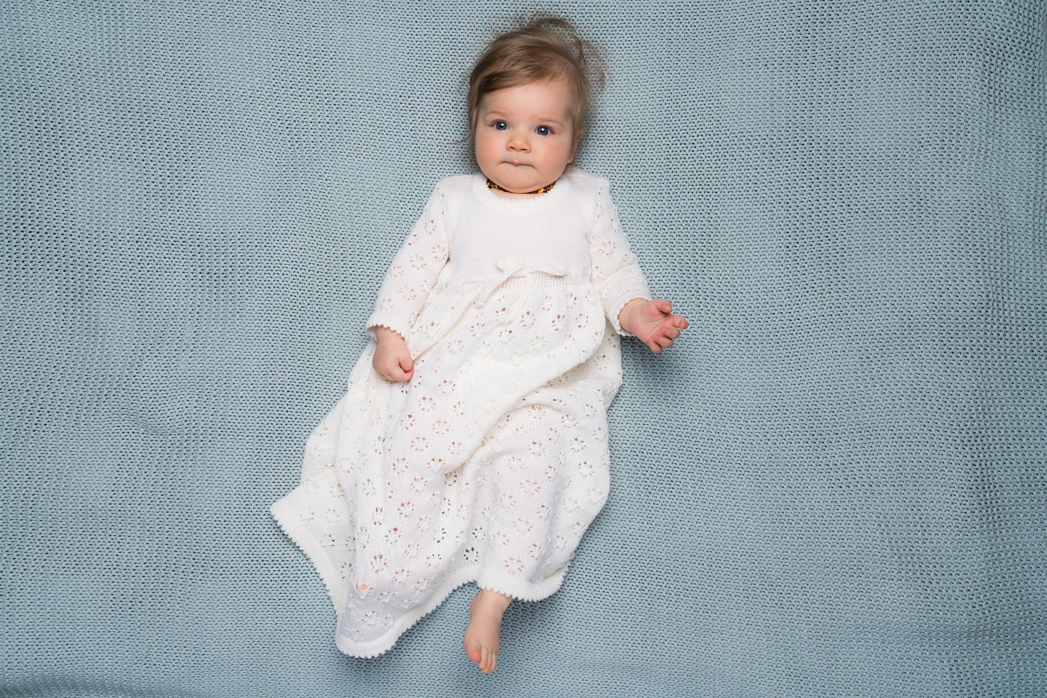 Baby girls white maxi dress