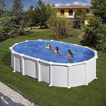 Bevorzugt Pool GRE Stahlwand Weiss Oval - 610 x 375 x 132 cm: Amazon.de XV71