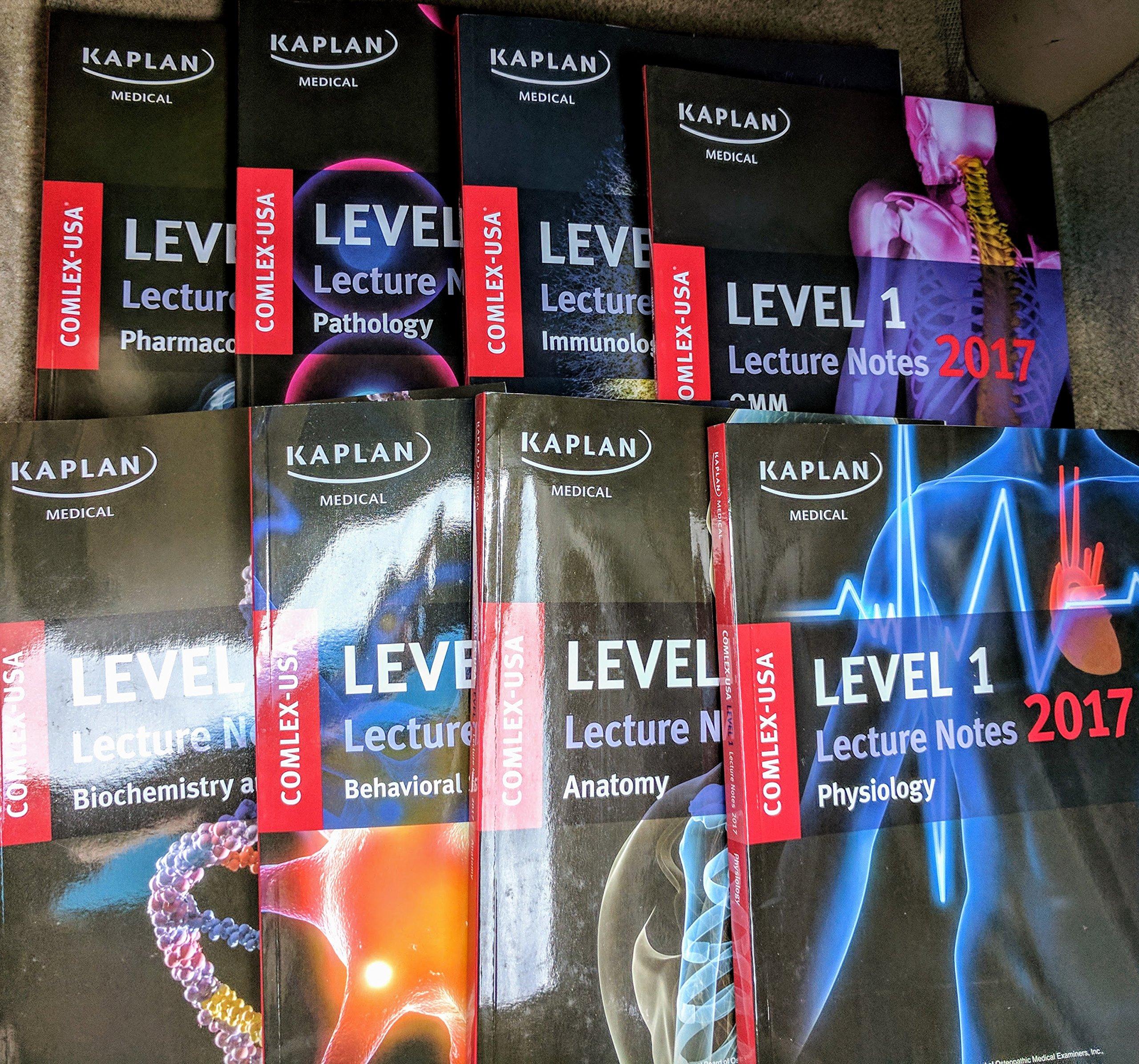 Read Online Kaplan Comlex Level 1 Lecture Notes (2017) 8 Book Set ebook