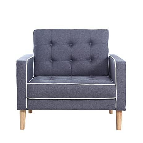 Amazon.com: Mid Century Modern Two Tone Fabric Living Room ...