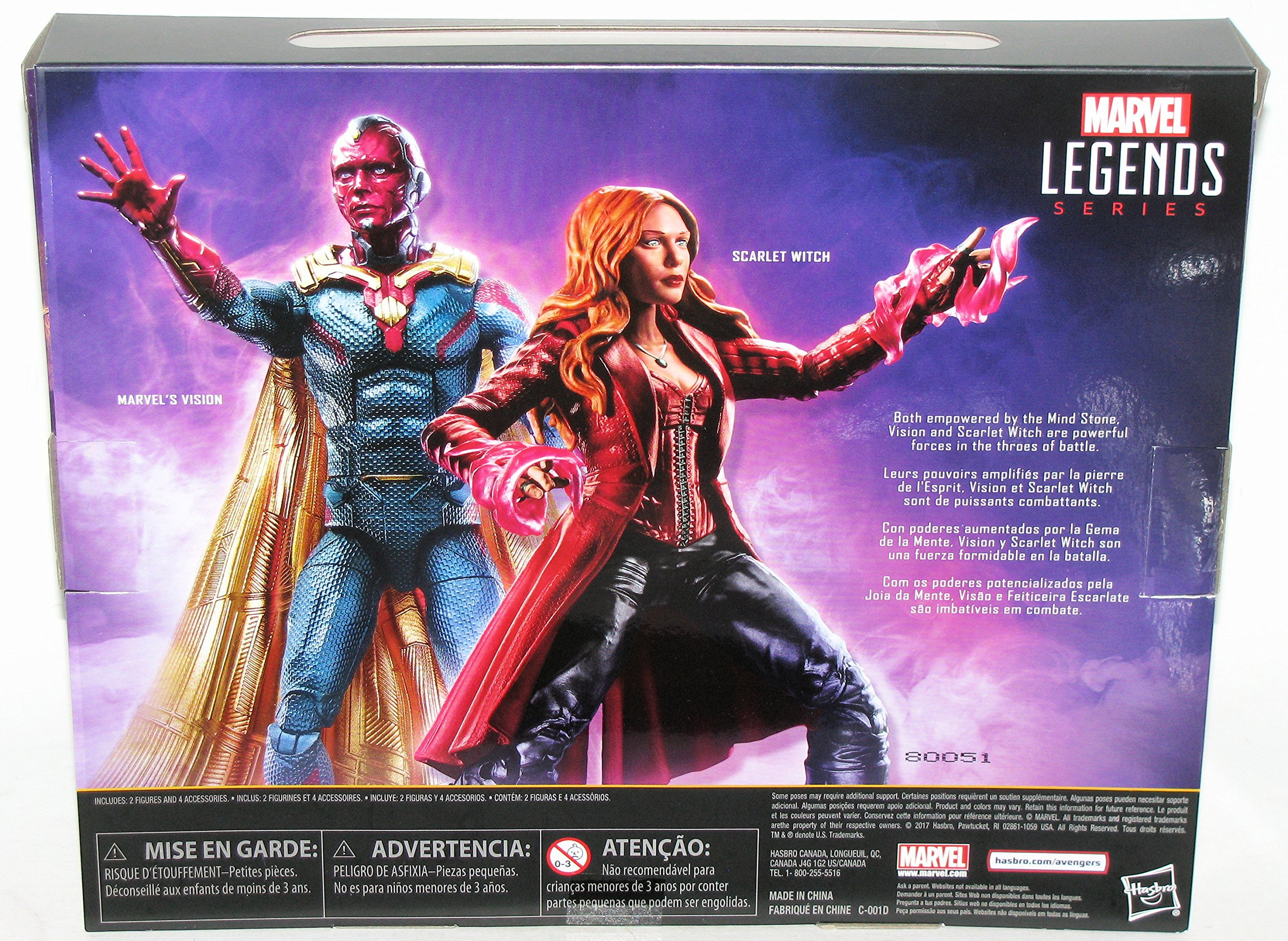 Marvel Legends Hasbro TRU Exclusive 3-Pack Series Vision Action Figure D