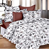 Ahmedabad Cotton Aspire 180 TC Cotton Bedsheet with 2 Pillow Covers - King Size, White