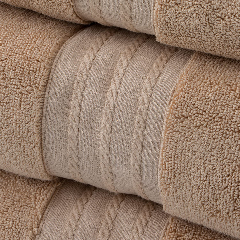 Salmon Welspun ECTT-TW-HW1-04 Crowning Touch Luxury Turkish Cotton 4-piece Towel Set