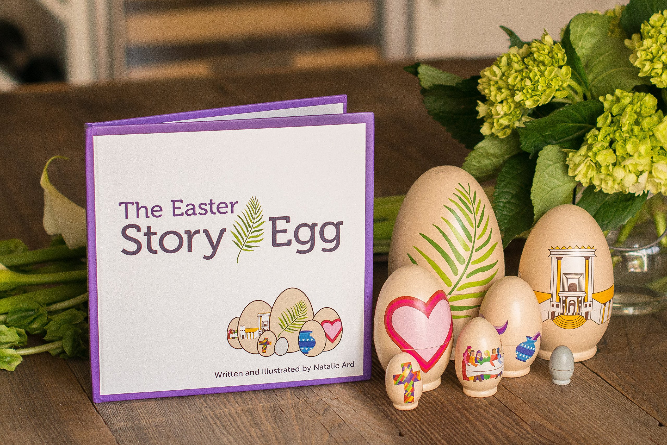 STORY EGG The Easter Colorful Nesting Toy with Resurrection Book – Great Christian or Catholic Gift for Children by STORY EGG (Image #2)