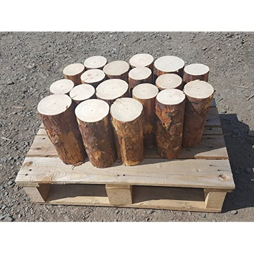 reservoir logs Round Logs for Decoration - Pine - 20cm Long - Covers 30cm x 40cm (0.12 metre squared) Kiln Dried Bug Free Lovely Smell