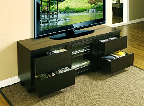 ioHOMES Lawrence 60-Inch Tv Cabinet with Drawer, Dark Espresso