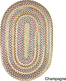 product image for Rhody Rug Charisma Indoor/Outdoor Oval Braided Rug by (10' x 13') - 10' x 13' Oval Champagne