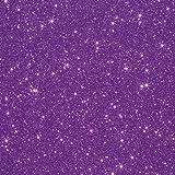 3 张 25.4 厘米 x 30.48 厘米 Siser 闪光烫转印乙烯基 紫色(Lavender) KCS-3PKGLITTER-Lavender