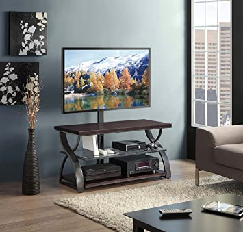 Amazon Com Whalen Furniture Calico 3 In 1 Entertainment Tv Stand