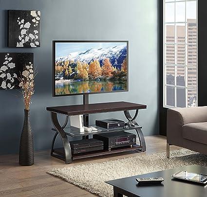 Amazon Com Whalen Furniture Calico 3 In 1 Entertainment Tv Stand
