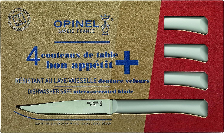 Opinel No. 125 Bon Appetit+ Juego de 4 Cuchillos de Mesa: Amazon ...