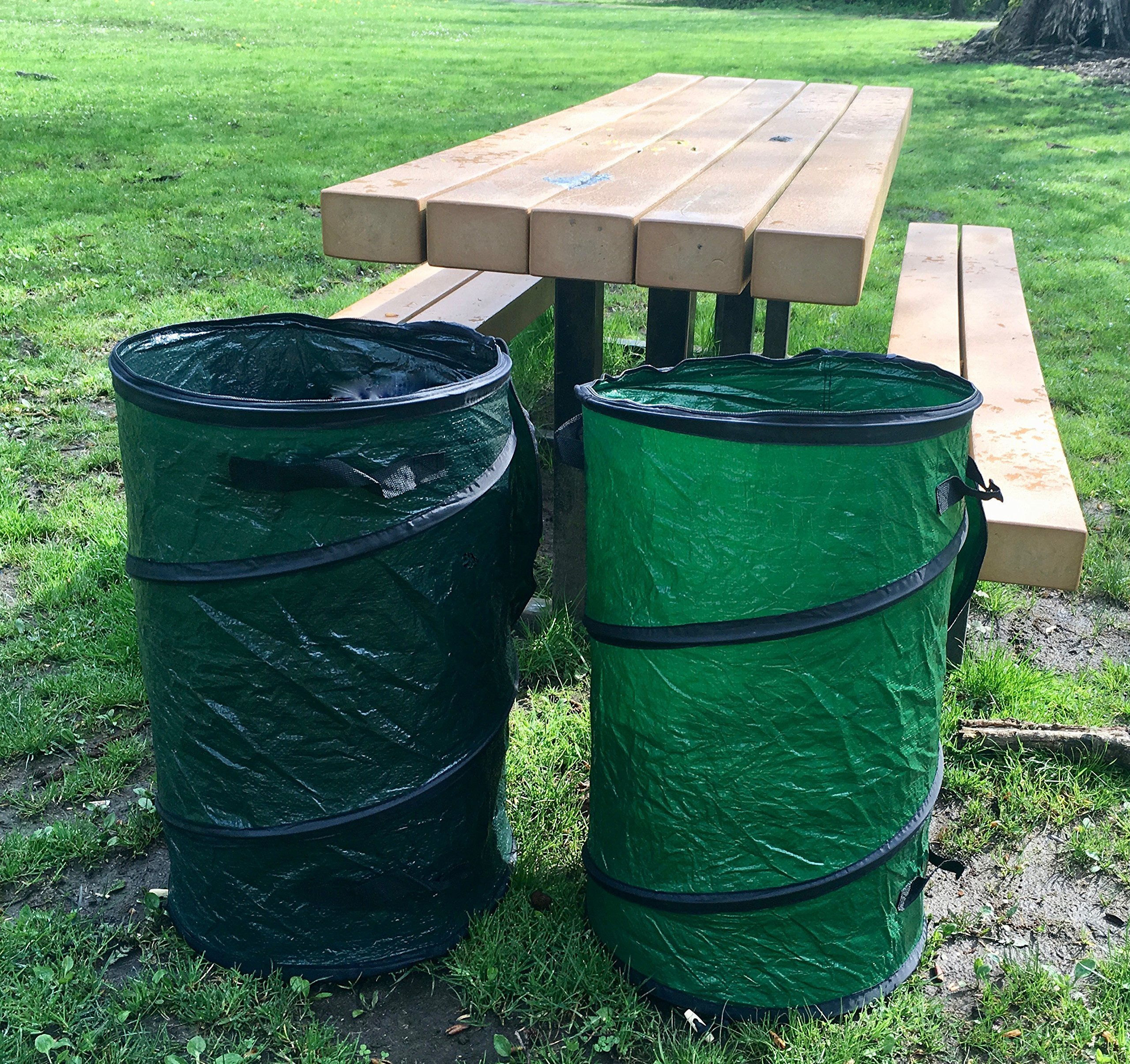 oswego pop up collapsible travel camping trash and recycle containers 2 pack 96647476315 ebay. Black Bedroom Furniture Sets. Home Design Ideas